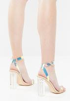 Public Desire - Alia strappy perspex high heel - neutral