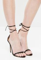 Public Desire - Naughty point toe barely there heel - black