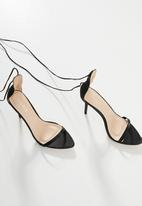 Public Desire - Naughty barely there heel - black