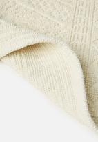 Sixth Floor - Dane woven diamond bath mat - cream