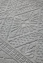 Sixth Floor - Dane woven diamond bath mat - light grey