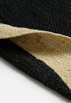 Sixth Floor - Sole jute round rug - black