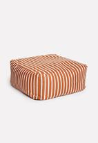 Sixth Floor - Outdoor floor cushion - rust stripe