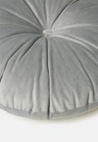 Sixth Floor - Lulu round pillow - overcast