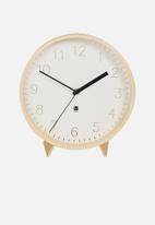 Umbra - Rimwood desk/wall clock - white & natural