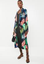 Superbalist - Longer length palm print kimono - multi