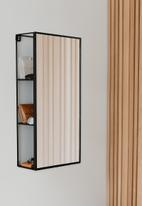 Umbra - Cubiko mirror & storage unit - black
