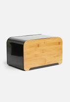 Present Time - Lay up bread box - black