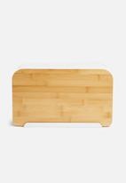 Present Time - Lay up bread box - white