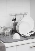 Umbra - Udry dish rack with drying mat - grey