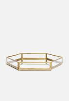 Sixth Floor - Presley tray - brass
