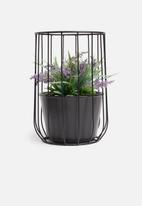 Sixth Floor - Nellie planter - black