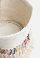 Sixth Floor - Aria woven basket - white