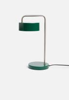 Present Time - Curve table lamp - green