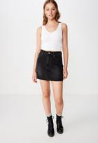 Cotton On - The classic denim skirt  - black