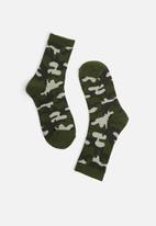 Cotton On - Ribbed crew socks - green