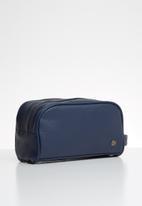 Typo - Double zipper wash bag - navy