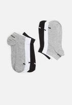 PUMA - 3 Pack sport secret socks - multi