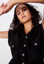 Cotton On - Woven isabella utility jumpsuit  - black