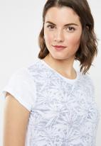 Lizzy - Bijoux tee - white & grey