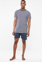 STYLE REPUBLIC - Breton stripe pj set - navy