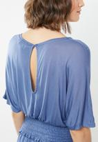 Brave Soul - Batwing playsuit - blue