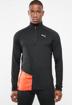 PUMA - Ignite halfzip top - black