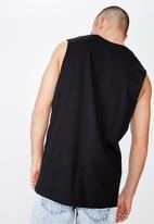 Cotton On - Tbar muscle tee - black