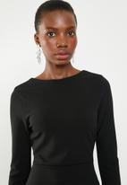 Missguided - Low back midi dress - black
