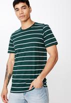 Cotton On - Tbar premium tee - green & white