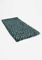 Vero Moda - Leomatic long scarf - navy & green