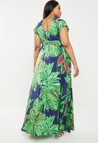 AMANDA LAIRD CHERRY - Plus size katya maxi dress - multi