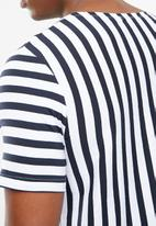 Jack & Jones - Mito short sleeve tee - navy & white