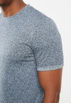 Jack & Jones - Austin short sleeve all over print tee - navy
