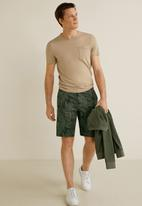 MANGO - Bermuda valley shorts - green