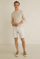 MANGO - Monday bermuda shorts - natural white