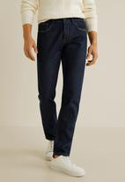 MANGO - Bob jeans - dark blue