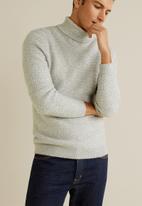 MANGO - Sweater caro - grey
