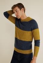 MANGO - Maxim sweater - navy & mustard