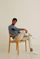 MANGO - Elia sweater - navy & white