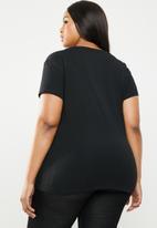 POLO - Plus size kelly short sleeve stretch tee - black