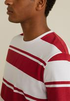MANGO - Chelsear T-shirt - red & white