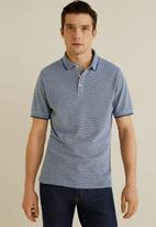 MANGO - Semi polo shirt - blue