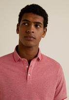 MANGO - Semi polo shirt - dark red