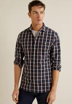 MANGO - Amelia shirt - navy