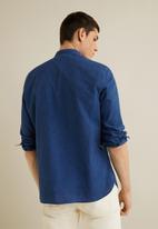 MANGO - Fiona shirt - medium blue
