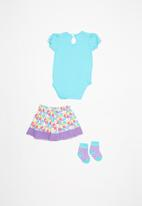 Twin Clothing - Short sleeve dreamer three piece set - multi