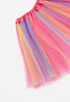 POP CANDY - Multi mesh skirt - multi