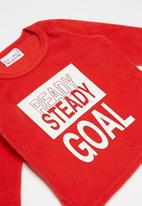 POP CANDY - Soccer balls fleece and flannel pyjamas - multi