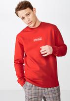 Cotton On - Collab crew sweater - red